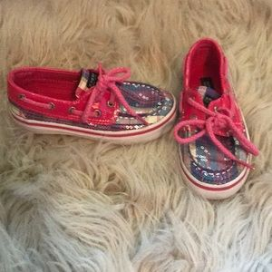 Toddler sparkly sperry's 8.5